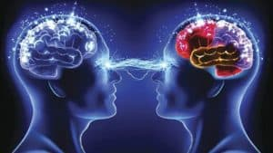 Figure 2 Two minds communicating. Can we know what's in another person's mind?