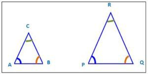 Figure 2 Similar shapes. Identical angles, proportional sides