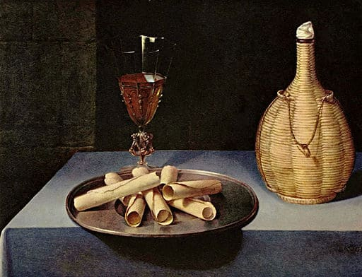 Figure 1. A table or set of separate lines. Lubin Baugin still life. Public domain, via Wikimedia Commons